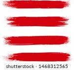 brush stroke set isolated on... | Shutterstock .eps vector #1468312565
