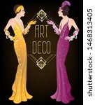 art deco vintage invitation... | Shutterstock .eps vector #1468313405