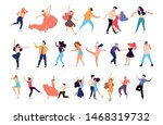 crowd of young people dancing... | Shutterstock .eps vector #1468319732