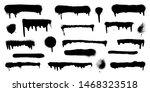 big set of graffiti spray...   Shutterstock .eps vector #1468323518