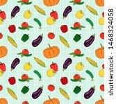 vector fresh vegetables... | Shutterstock .eps vector #1468324058
