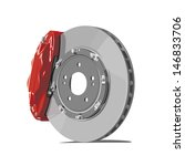 vector brake disc on white... | Shutterstock .eps vector #146833706