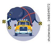 transportation of a heavy... | Shutterstock .eps vector #1468349072