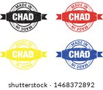 made in chad collection of... | Shutterstock .eps vector #1468372892