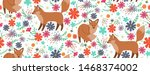 foxes surrounded by beautiful... | Shutterstock .eps vector #1468374002