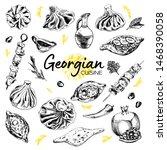 hand drawn georgian cuisine.... | Shutterstock .eps vector #1468390058