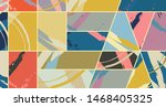 abstract collage asymmetric... | Shutterstock .eps vector #1468405325