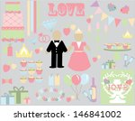 wedding bliss | Shutterstock .eps vector #146841002
