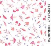autumn theme seamless pattern...   Shutterstock .eps vector #1468426958