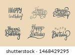 set of hand lettering happy...   Shutterstock .eps vector #1468429295