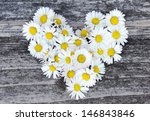 Daisy Love Symbol On Old Woode...