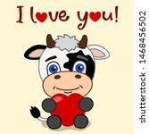 Valentine's Card   Cute Cow...