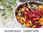 Mixed Punch With Fresh Fruits...