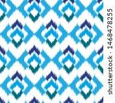ikat geometric seamless texture.... | Shutterstock .eps vector #1468478255