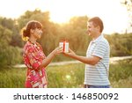 middle aged couple in love... | Shutterstock . vector #146850092