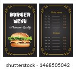 fast food menu template for... | Shutterstock .eps vector #1468505042