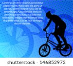 stunt bicyclist on the abstract ... | Shutterstock .eps vector #146852972