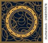 vector shawl print on a dark... | Shutterstock .eps vector #1468545878