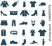 set vector icons clothes and... | Shutterstock .eps vector #146855576