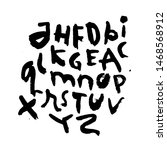 dry brush alphabet font set... | Shutterstock .eps vector #1468568912