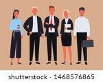 business team. businessman and... | Shutterstock .eps vector #1468576865