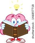 smiling brain cartoon character ... | Shutterstock .eps vector #146857718