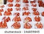 Crabs Packed In Ice On Sale At...