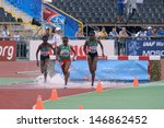 Small photo of DONETSK, UKRAINE - JULY 14: Chepngetich (left), Jepkemei (right), both Kenya, and Ansa, Ethiopia compete in steeplechase during 8th IAAF World Youth Championships in Donetsk, Ukraine on July 14, 2013