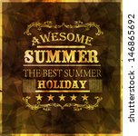 elements for summer holidays... | Shutterstock .eps vector #146865692