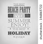 elements for summer holidays... | Shutterstock .eps vector #146865722