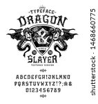 Font Dragon Slayer. Craft Retr...