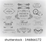 typography  calligraphic design ... | Shutterstock .eps vector #146866172