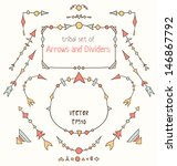 set of design elements. tribal...   Shutterstock .eps vector #146867792