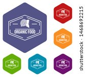 organic food icons colorful... | Shutterstock . vector #1468692215