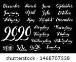 big vector handdrawn... | Shutterstock .eps vector #1468707338