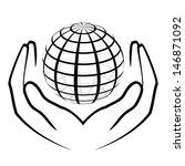 vector illustration of hands... | Shutterstock .eps vector #146871092