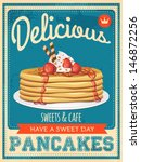 Vector Vintage Styled Pancakes...