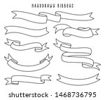 set of hand drawn ribbons  ... | Shutterstock .eps vector #1468736795