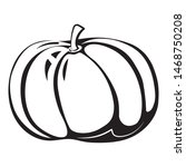 black and white autumn simple...   Shutterstock . vector #1468750208