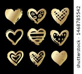 Vector Golden Hearts.ink And...