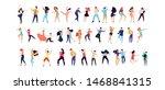 crowd of young people dancing...   Shutterstock .eps vector #1468841315