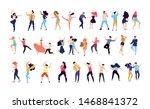 crowd of young people dancing... | Shutterstock .eps vector #1468841372