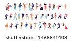 crowd of young people dancing... | Shutterstock .eps vector #1468841408