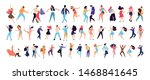 crowd of young people dancing... | Shutterstock .eps vector #1468841645