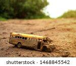 Toy Broken Old School Bus