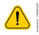 hazard warning symbol. vector... | Shutterstock .eps vector #1468861505