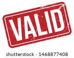 Stock vector valid rubber stamp valid rubber grunge stamp seal vector illustration vector 1468877408