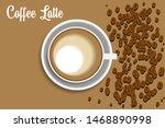 brown coffee latte vector image ...   Shutterstock .eps vector #1468890998