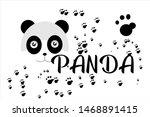 panda face vector background ...   Shutterstock .eps vector #1468891415