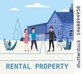 real estate concept. house rent ... | Shutterstock .eps vector #1468894958